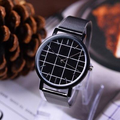 Часы из нержавеющей стали две иглы хан издание досуг моды студенты кварцевые часы