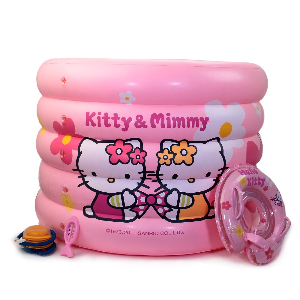 Hello kitty Cute pattern Baby Kid Round Swimming Pool Children 0.3mm PVC Durable Swimming Pools Inflatable Piscina dual slide portable baby swimming pool pvc inflatable pool babies child eco friendly piscina transparent infant swimming pools