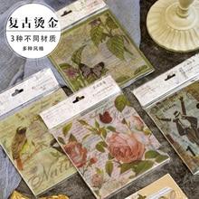 15pcs/lot Vntage Bronzing Series Sticker Paper Sticker Decoration Diy Ablum Diary Scrapbooking Label Stickers карликовое дерево 15pcs diy