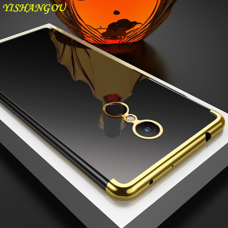 YISHANGOU Case For Xiaomi Note 5 Pro 4 4X Plating Electroplate Clear Back Cover For Redmi 4X 4A 5A 6A 6 Pro 5 Plus Soft TPU Case