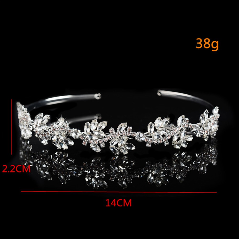 925 sterling silver luxury shine AAA CZ diamond tiara for women party wedding hair acessorios bridesmaid crown 585 gold plated crystal jewelry HF046 (6)