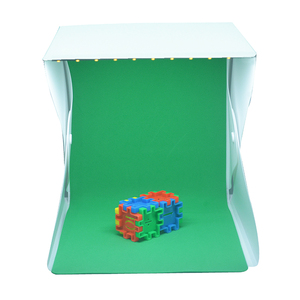 "Image 3 - 8"" Portable Photo Studio Light Box 2 LED Panels 6 Colors Backdrops Mini Foldable Photo Light Box Shooting Photography lightbox"