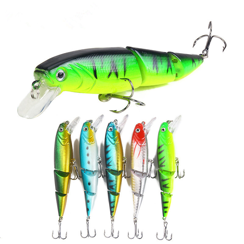 1PCS Jointed Fishing lure 11CM/15G Minnow plastic artificial fishing wobbler tools jerk fish esca tackle