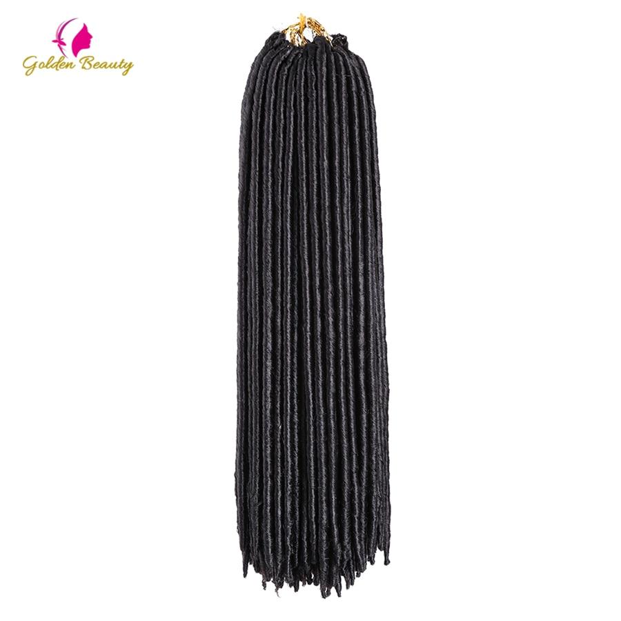 ᗔBelleza de oro 18 inch synthetic crochet trenzas duro Faux LOCs ...