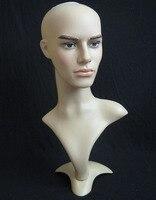 Высочайшее качество мужской манекен головы шляпу Дисплей парик Обучение Начальник модель начальник модель человек глава Модель