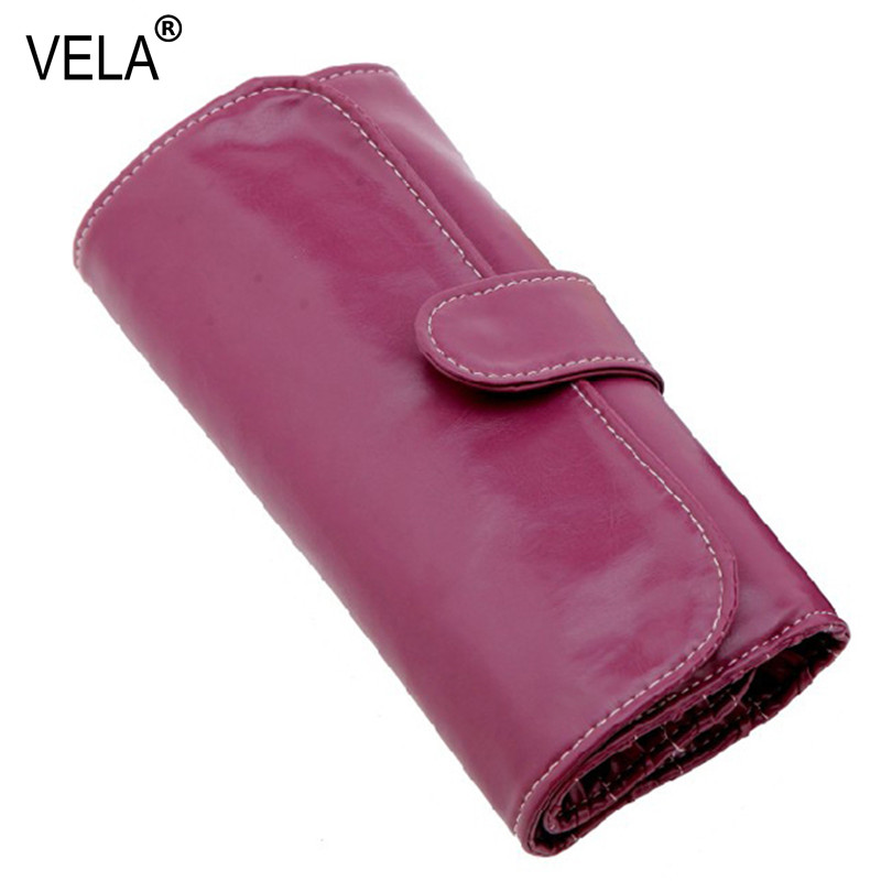 Kiváló minőségű 10 nyerőgépes smink kefe táska védelme tasak 10 db kefék készlet lila PU tok