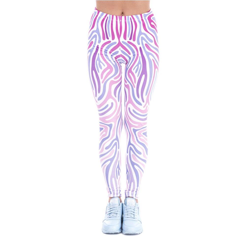 New Spring Women Legins Zebra Pink Printing Sexy Slim Legging Fashion High Waist Woman Leggings