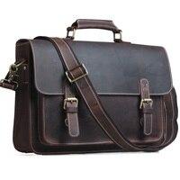 Весть Для мужчин Мужские Портфели сумка для ноутбука Винтаж Стиль крест Средства ухода за кожей сумка натуральной кожи Новое поступление
