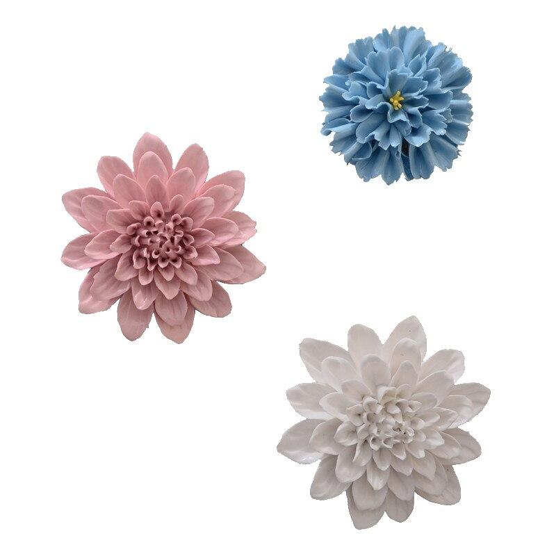 Ceramic Wall Flower Decor: Peony Medicine Carnation Wall Decoration Ceramic Flower
