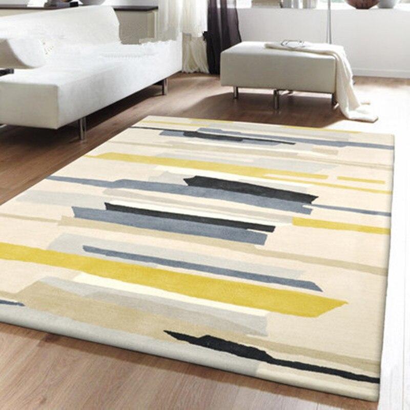 Style européen tapis géométrique grande taille haute qualité maison tapis nordique brife salon tapis 7mm épaissir Palor tapis Art décor