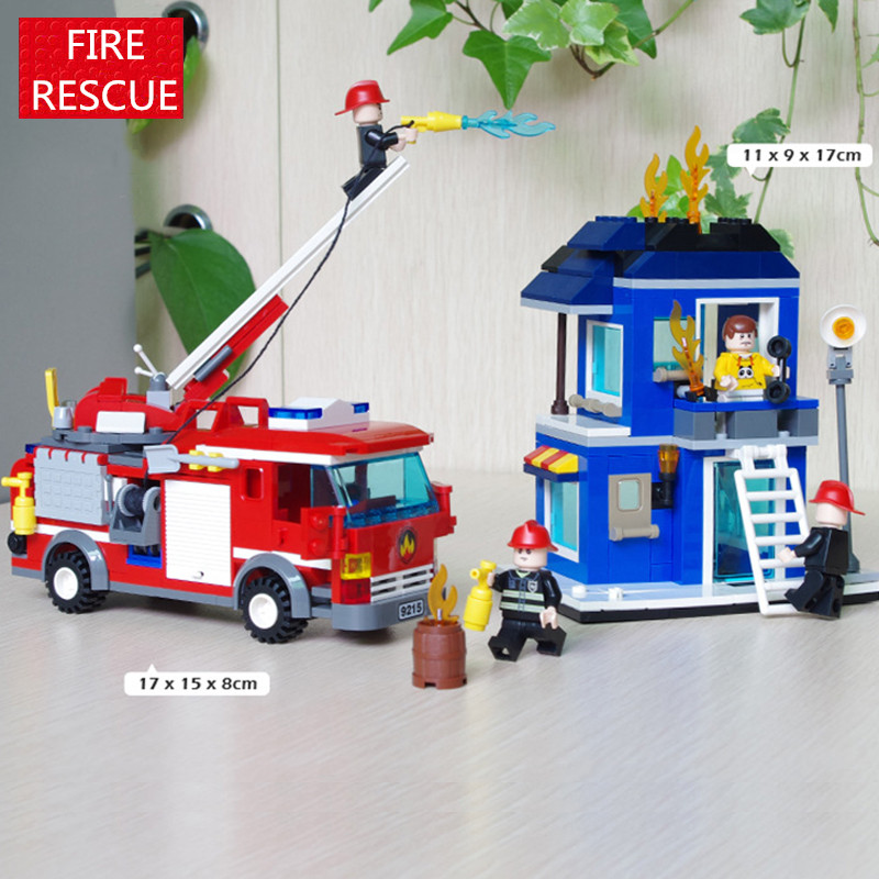 431pcs Fire Rescue CITY Truck Fireman Firefighting Station Helicopter technic Mini Building Blocks Figures Toys Boys Compatible enlighten 908 scaling ladder fire rescue truck firefighting figure blocks construction bricks toys for children compatible legoe