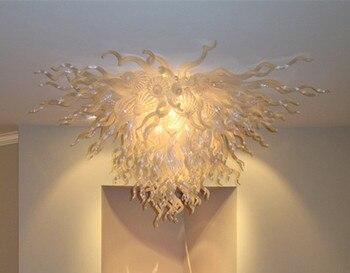מודרני לבן זכוכית מנופחת LED תקרת אור חיסכון באנרגיה אור מקור יפה סלון אמנות דקורטיבי תקרת אור