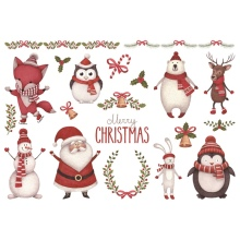 1 шт. Рождество Лось Снеговик Санта-Клаус uncut стикер украшения