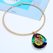 Geometric Water Drops Luxury High-grade Crystal Pendant Chokers Necklaces Collar Fashion Clavicle Short Necklace Jewelry