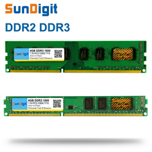 SunDigit DDR 2 3 DDR2 DDR3 / PC2 PC3 1GB 2GB 4GB 8GB 16GB Computer Desktop PC RAM Memory PC3-12800 1600MHz 1600 1333 MHz 800MHz все цены