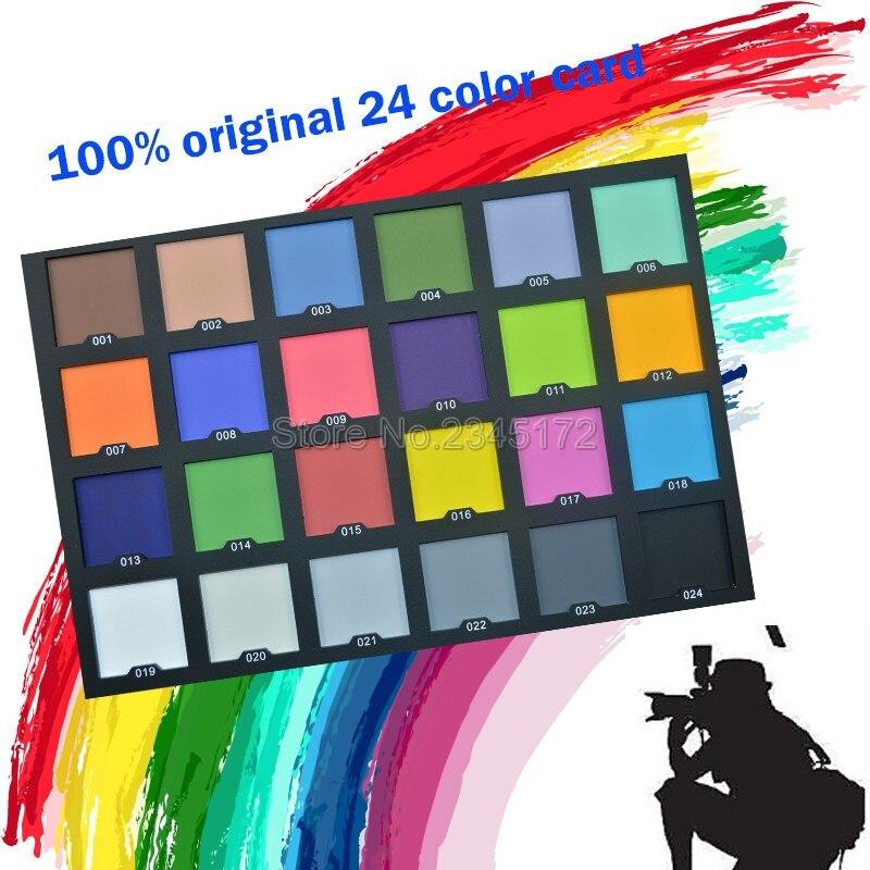 Zomei Professional 24 Color Maps Color Balance Test Maps Chart
