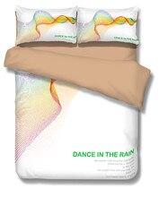 Efecto arco iris bailar bajo la lluvia 3D Juego de Cama de Impresión sábana Funda Nórdica set Twin queen rey realista #2