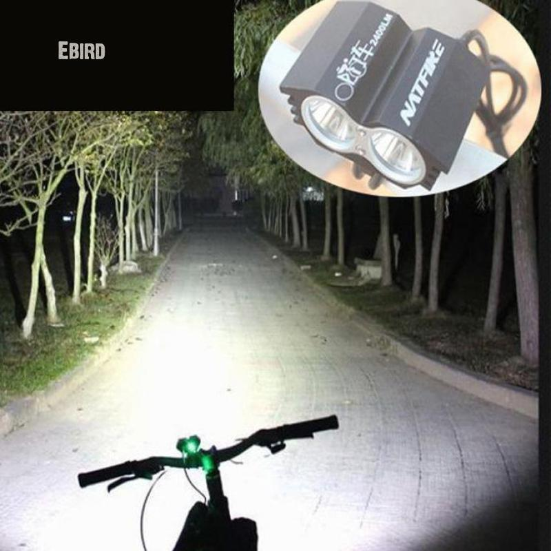 купить Ebird Bicycle Light 2400 Lumens Cree Led Chip Cycling Front Light Lamp Torch Waterproof Zoom Flashlight L2 24000ma Battery недорого