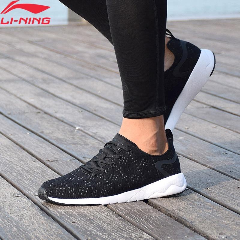 Li-Ning Men's Heather Leisure Waling Shoes Mono Yarn Wearable LiNing Li Ning Sport Shoes Breathable Sneakers AGCM055 YXB076