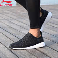 Li-Ning Men's Heather Leisure Waling Shoes Mono Yarn Wearable LiNing li ning Sport Shoes Breathable Sneakers AGCM055 YXB076