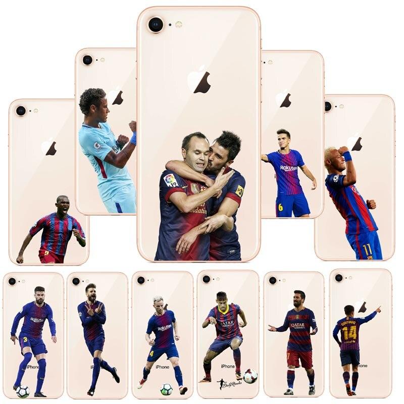 seracase Messi Neymar Cristiano Ronaldo Barcelona Football Jersey For iphone 6Plus 6S 7 8 Plus 5S 5 SE X 10 Hard PC Phone bags