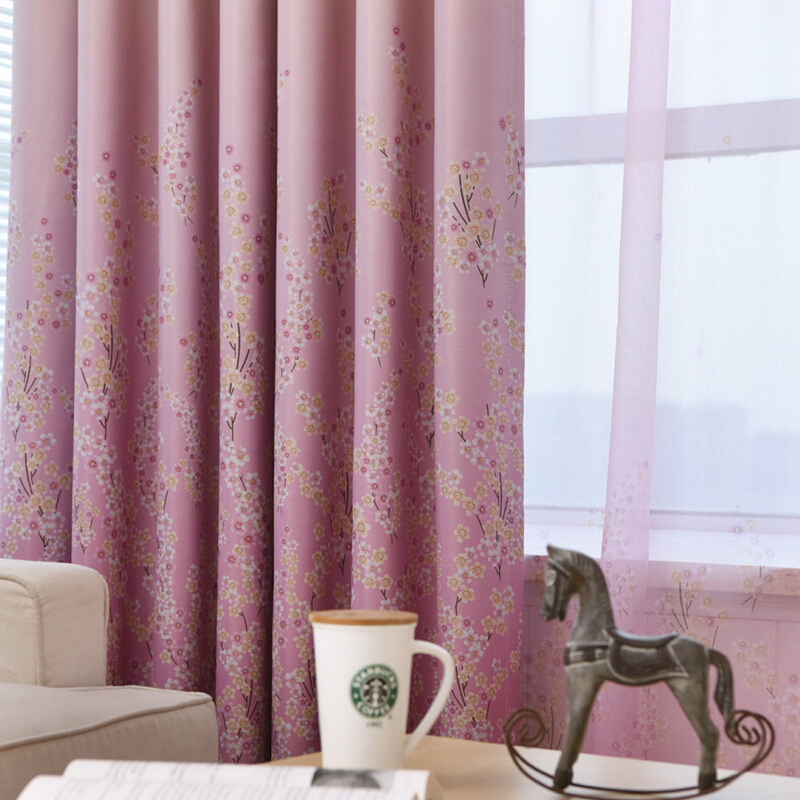 Rustic Small Floral Leaves Designer Pink Curtains For Living Room Bedroom Kitchen Drape Window Curtain Blue Cortinas 30 In From Home Garden On