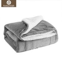 Novo 2017 Sherpa Dupla camada Cobertor Super Macio Cobertor de Jogar no Sofá Cama Mantas de Viagem de Avião Adulto Home Textile Cobe