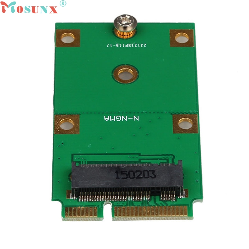 Mosunx SATA Adapter Mini PCI-E 2 Lane M.2 NGFF 30mm 42mm SSD To 52pin mSATA Adapter Card 60321 new msata ssd dual port to sata ii adapter card with pci e bracket 79886