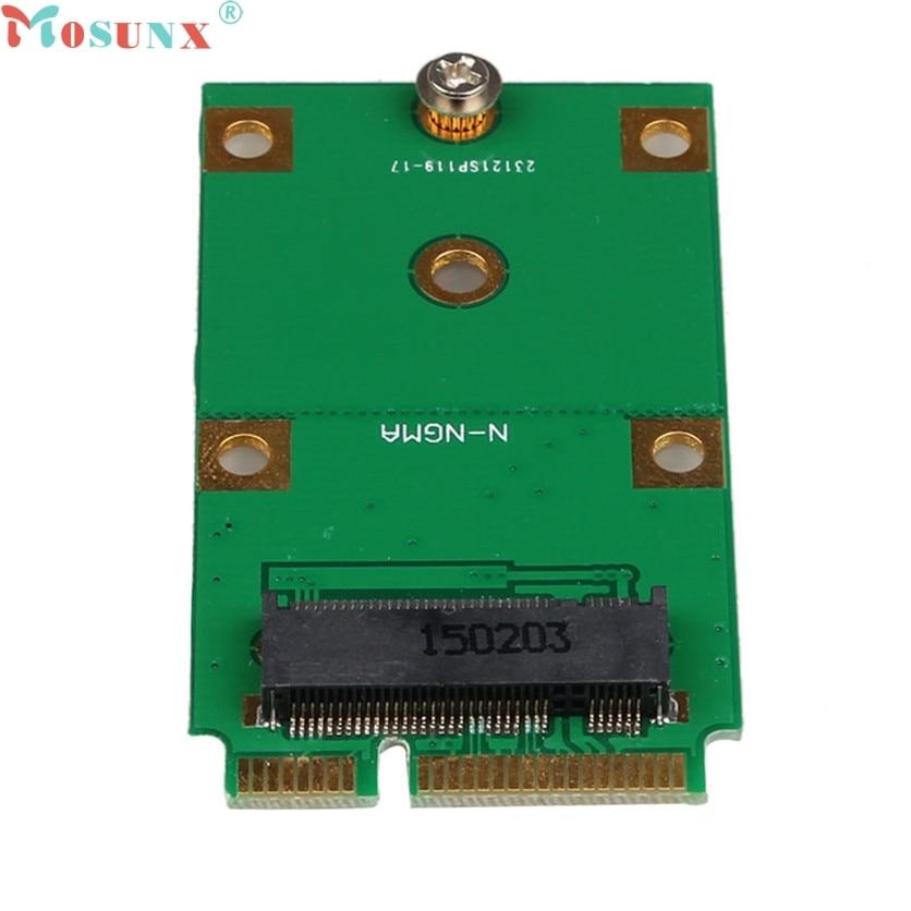 Mosunx SATA Adapter Mini PCI-E 2 Lane M.2 NGFF 30mm 42mm SSD To 52pin mSATA Adapter Card 60321 ssd msata to b key m 2 ngff sata adapter converter adapter card board for laptop desktop