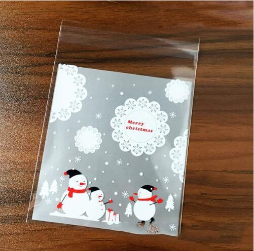 מוצר pcs christmas gift bags self adhesive plastic