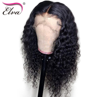 Pre Plucked Full Lace Human Hair Wigs Brazilian Remy Hair Wig 130%/150% Density Curly Full Lace Wig With Baby Hair 10 24 Elva