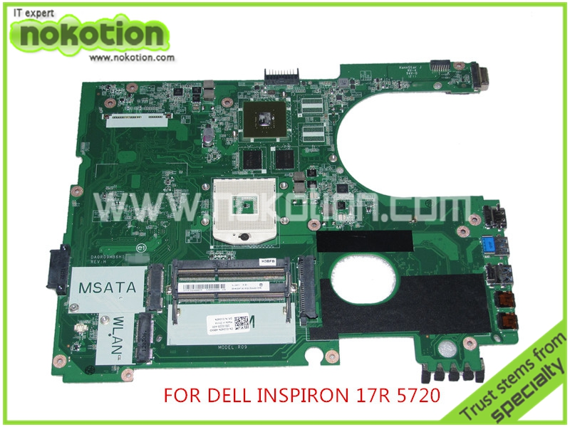 DA0R09MB6H1 REV H CN-01040N 1040N For Dell inspiron 17R 5720 laptop motherboard Nvidia GeForce Graphics HD4000