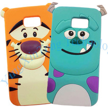 3D Cute Cartoon Soft Silicone Case Coque For Samsung Galaxy S8 Plus S7 edge S6 Fundas Monsters Sulley Tiger Cat Phone Cover Capa