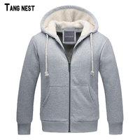 TANGNEST Men S Winter Sweatshirt 2016 New Arrival Men Casual Thick Warm Solid Sweatshirts Male Hooded