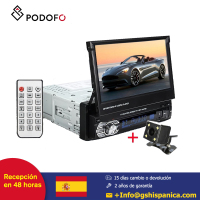 Podofo 7'' Car radio 1 din HD Autoradio Touch Digital Screen GPS Navigation Bluetooth FM USB SD MP5 Support Rear View Camera