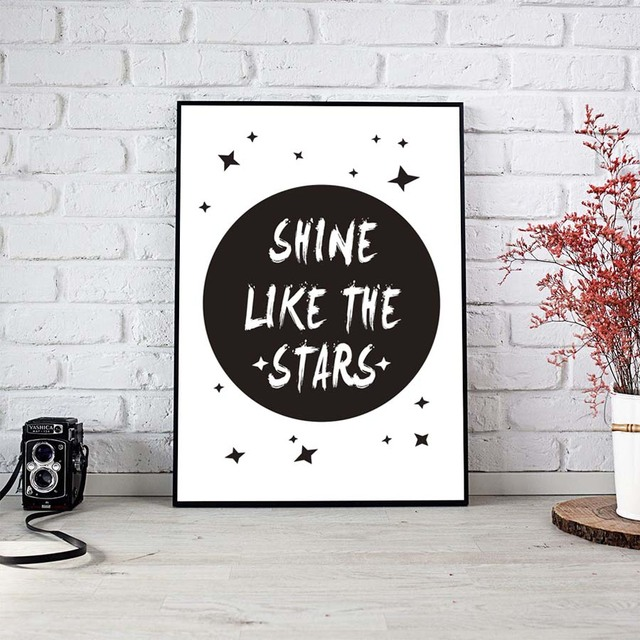 Aliexpresscom Buy Nordic Shine Like The Stars Quotes Canvas