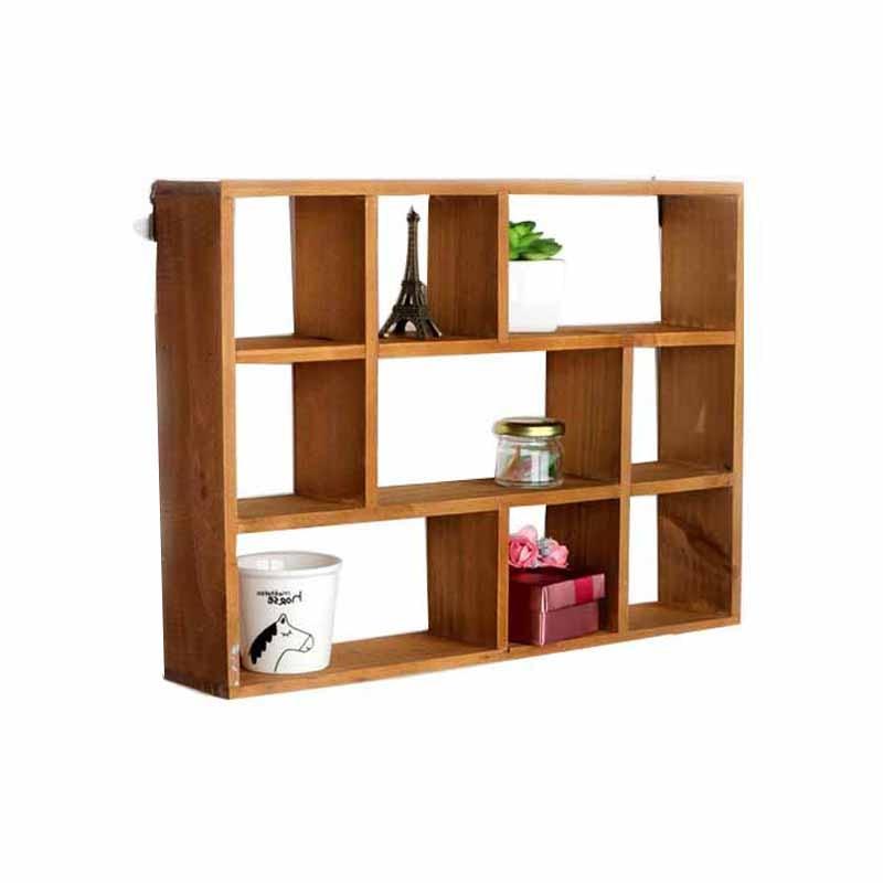 sundries wood in storage racks rack decoration item for bathroom kitchen box wooden holders house wall grids craft holder organizer