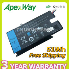 Apexway 11.4V 51Wh laptop battery VH748 For Dell Inspiron 14-5439 VOSTRO V5460 V5470 VH748 V5480 V5560