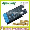 Apexway vh748 11.4 v 51wh bateria do portátil para dell inspiron 14-5439 v5470 vostro v5460 vh748 v5480 v5560