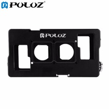 PULUZ 2 in 1 Housing Shell CNC Aluminum Alloy Protective Cage with Lens Frame for GoPro HERO4 /3+