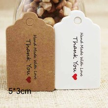 Vintage style paper gift tag white/kraft cardboard jewelry label for /wedding favors products note 100pcs per lot
