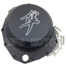 все цены на Motorcycle Part right side Engine Clutch cover For Suzuki Hayabusa GSXR1300 1999-2013 B-king 2008 2009 Black онлайн