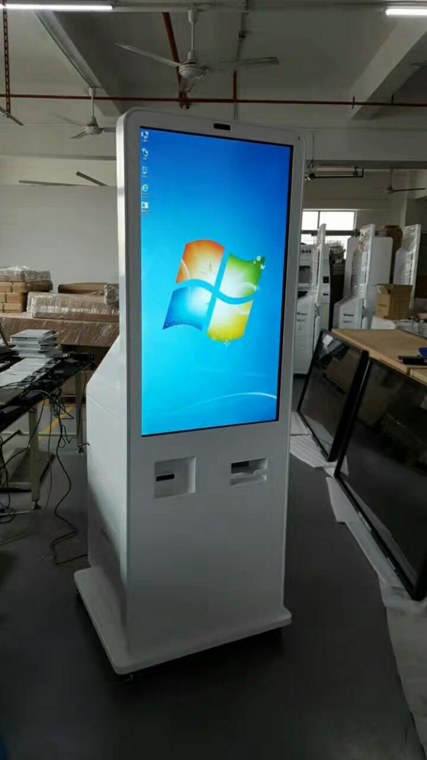 Webchat Or Instogram Photo All In One Printer With Lcd Tft Full Hd Touch Interactive Free Standing Video Digital Signage