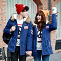 Hot new 2016casual winter long quilted jacket men Slim down&parkas fashion hood wadded warm jacket thermal coat Dark Blue S-4XL