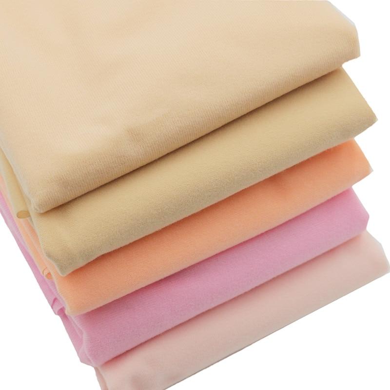 Tissu de fibre de patchwork de tissu de peau de poupée de bricolage 50 * 148cm pour les vêtements de poupées Chair de couleur respectueux de l'environnement à coudre des tissus