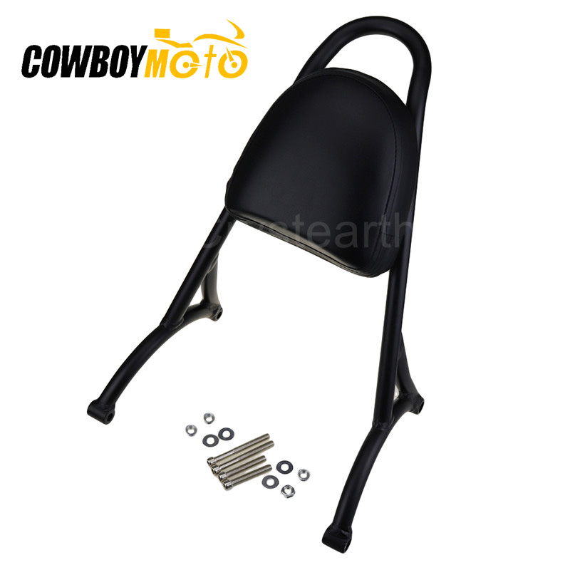 Motorcycle Rear Passenger Sissy Bar Backrest Cushion Pad Kit For Harley Sportster XL 883 1200 2004-2016 2015 2014 2013 2012 2011Motorcycle Rear Passenger Sissy Bar Backrest Cushion Pad Kit For Harley Sportster XL 883 1200 2004-2016 2015 2014 2013 2012 2011