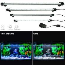 19 см водонепроницаемый аквариумный светодиодный светильник ing Fish Tank EU/US/UK/AU с вилкой для подводного аквариума, лампа для аквариумов, декор RGB светильник