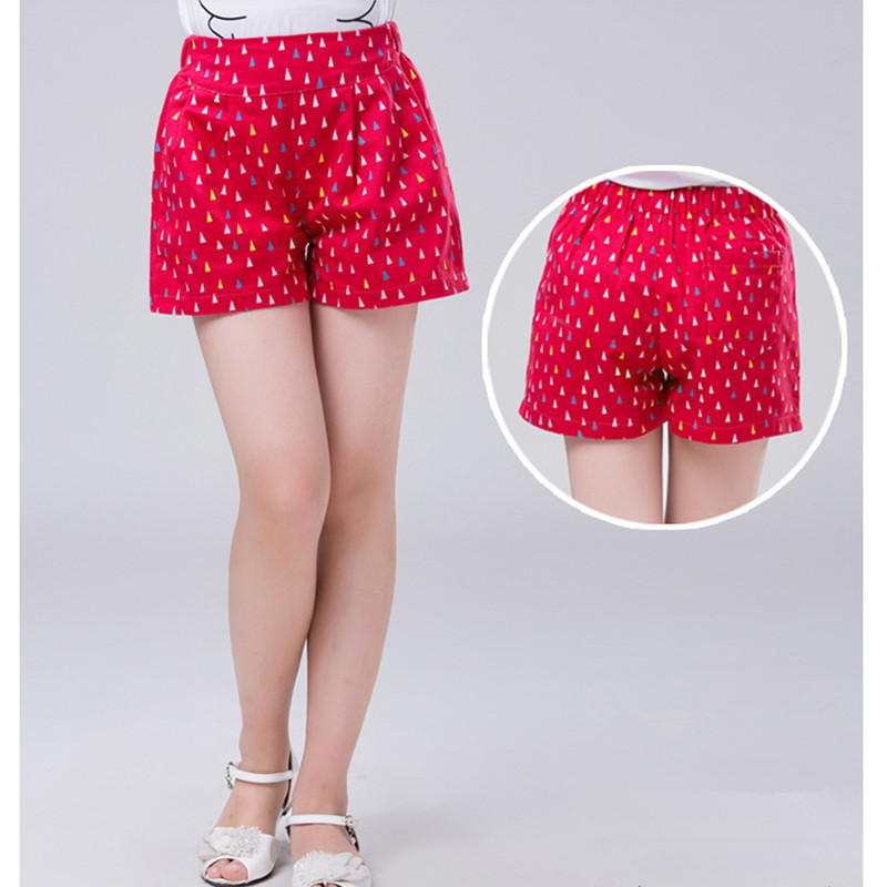 Image 5 - 4 to 14 years kids & teenager girls summer geometric print sweet candy color cotton casual shorts girl fashion short bottomsShorts   -