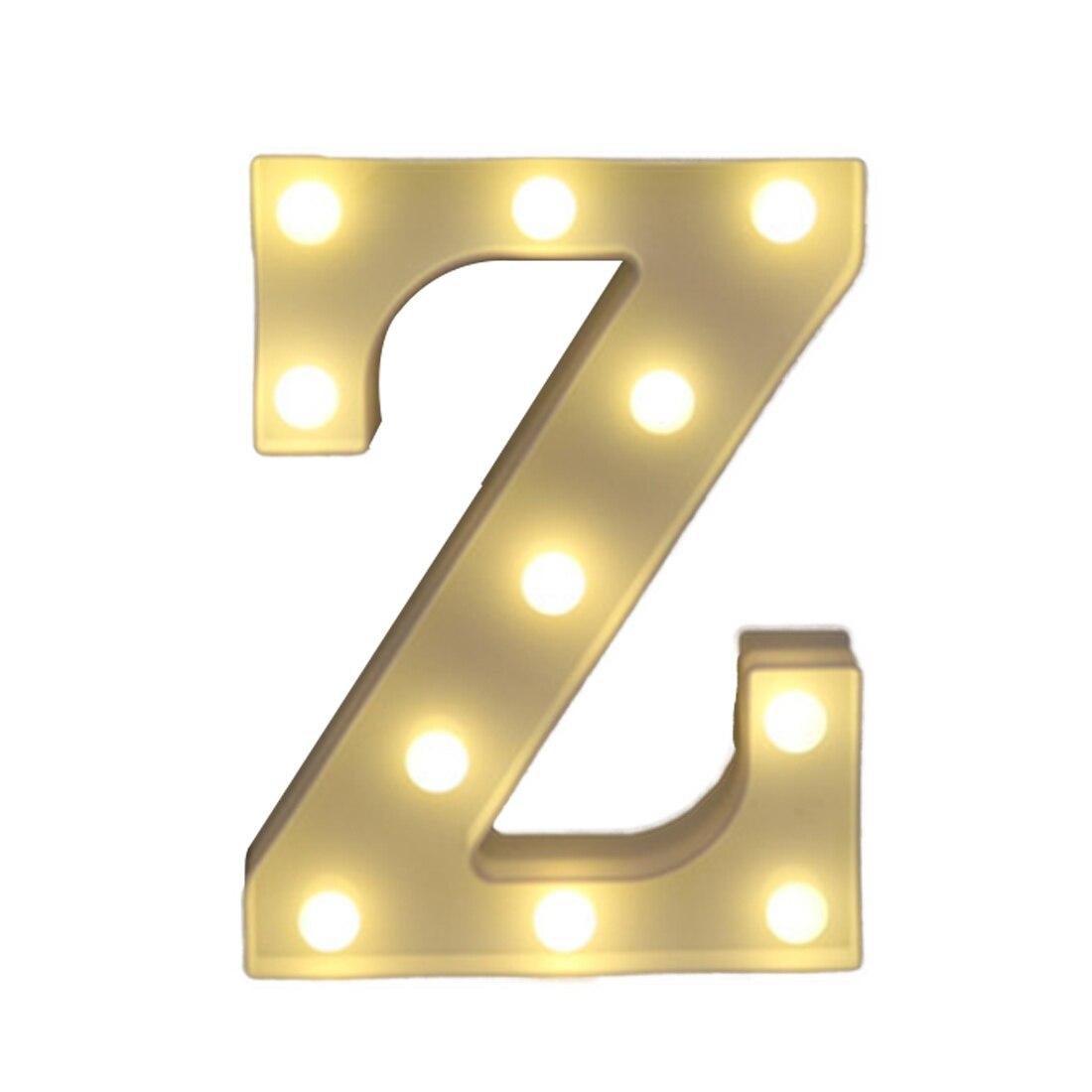 Hot Sale Light Up U-z Decoration Symbol Indoor Wall Alphabet Letter Led Light White Decoration Wedding Party Window Display Light