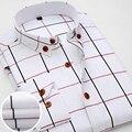 2016 Outono de Algodão Oxford Camisa Listrada Homens Casuais de Manga Comprida Projeto Slim Fit de Alta Qualidade Camisas de Vestido do Negócio do Sexo Masculino Mais tamanho